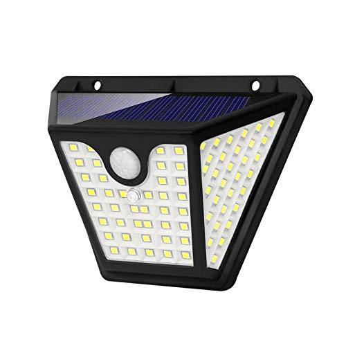 YRHome Solarlampen Bewegungsmelder 102 LED Solar Aussenleuchte Solarleuchten Wandleuchte 3 Optionale Modi IP65 Wasserdichte für Außen