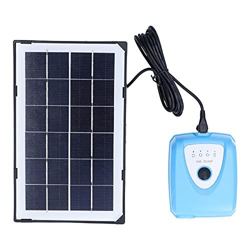 Solarbetriebener Oxygenator, Solarbetriebener Oxygenator Wassersauerstoff Geräuscharme Luftpumpe Teichbelüfter AP008 3.5W 3.0-4.25V