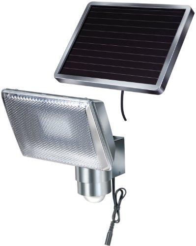 Brennenstuhl LED-Strahler SOL/LED-Leuchte für außen mit Bewegungsmelder und Solar-Panel (IP44, inkl. Akku, 8 x 0,5W) aluminium