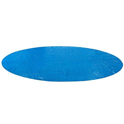 Arebos Pool Solarfolie/Abdeckung | rund | 360 cm | Materialstärke 0,4 mm | schwimmend | verringert...