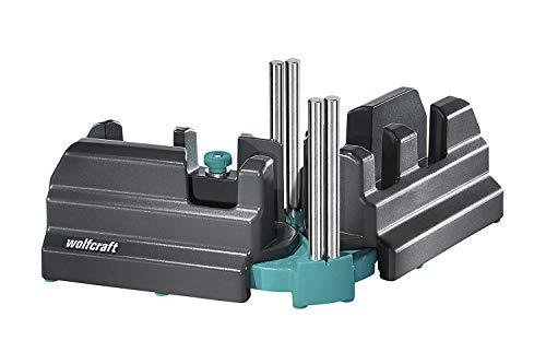 Wolfcraft Schmiege und Schneidlade 6948200 / 2in1 Gehrungslade aus Stahl mit Winkelhalbierenden zum Schneiden...