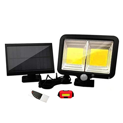 HAI Lichtsteuerung solar strahler auBen, Menschliche Körperinduktion garagenbeleuchtung Batterie, Solar Wandleuchte Im Freien Für Den Innenhof Tür(Size:128 core)