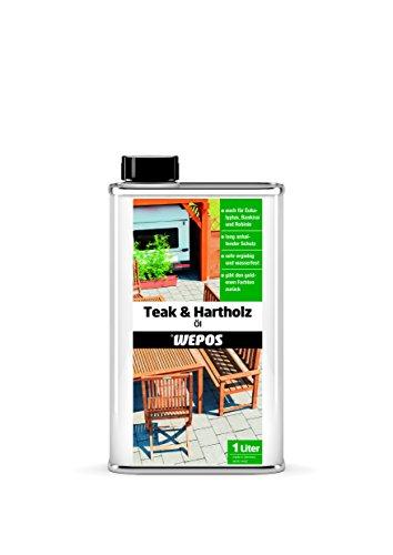 Wepos 2000300657 Teak- und Hartholz Öl 1 Liter