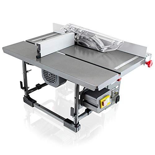 BITUXX® Mobile Tischkreissäge Kreissäge Säge 800 Watt inkl. Sägeblatt, Gehrungslehre, Parallelanschlag, Stock