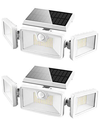 Otdair 132 LED Solarlampen für Außen, IP65 Solar Bewegungsmelder Aussen, 3 Modi Solarlampen Für Außen mit Bewegungsmelder Garten Aussen Balkon 2 Stk