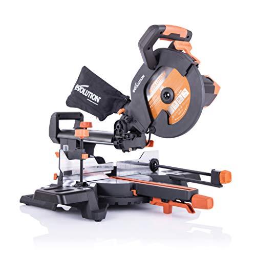 Evolution Power Tools - R255SMS+ Mehrzweck-Gleit-Gehrungssäge mit Plus Pack, 255 mm (230V)