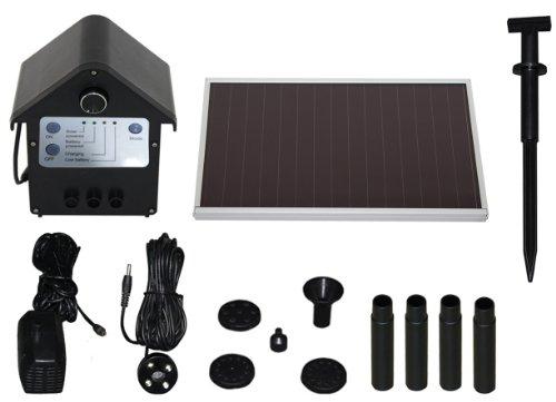 T.I.P. Solar Teichpumpe SPS 250/6, LED Beleuchtung, 3 W, bis 250 l/h Fördermenge für Gartenteich oder...