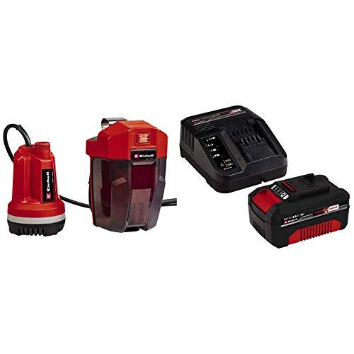 Einhell Akku-Tauchdruck/Regenfasspumpe GE-PP 18 RB Li Power X-Change (Li-Ion, 18 V, Förderdruck max. 2 bar, max. 3000 L/h, flexible Batteriebox, inkl. 4 Ah Akku und Ladegerät)