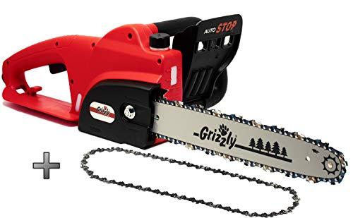 Grizzly Elektro Kettensäge, Motorsäge, elektrische Kettensäge mit Metallgetriebe1800 W, 35,5 cm...
