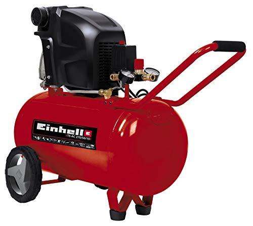 Einhell Kompressor TE-AC 270/50/10 (1.800 W, max. 10 bar, 50 l-Tank, Druckminderer,...