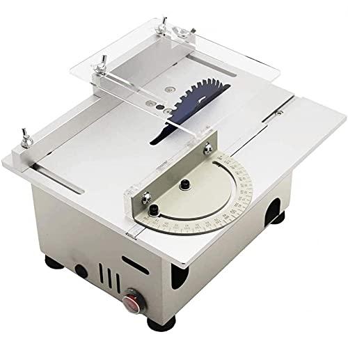 KUANDARMX Mini Tischkreissäge Kreissäge, 0-29 Mm Tragbares Schneiden Mit Gehrungslehre, Holz Metall Glasschneider Säschneidemaschine