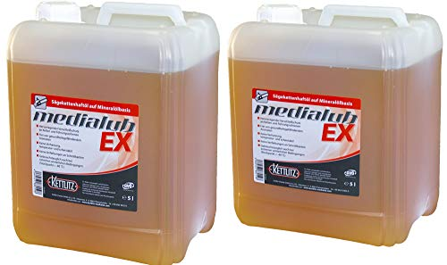 2 x 5 Liter KETTLITZ-Medialub EX Hochleistungs Sägekettenöl, Sägeketten-Haftöl