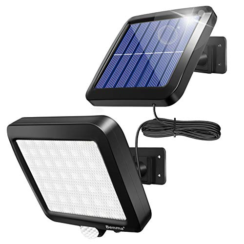 Solarlampen für Außen, 56 LED Solarleuchten mit Bewegungsmelder, IP65 Wasserdichte, 120° Beleuchtungswinkel...