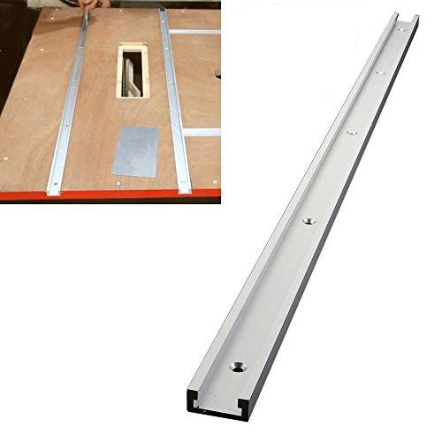 MZY1188 31,5 Zoll T-Slot Gehrungsschiene Jig Befestigung Slot, aluminiumlegierung Schiene Gehrungsschiene Slider Holzbearbeitung T-Slot T-Tracks Gehrungswerkzeug für Router Tisch
