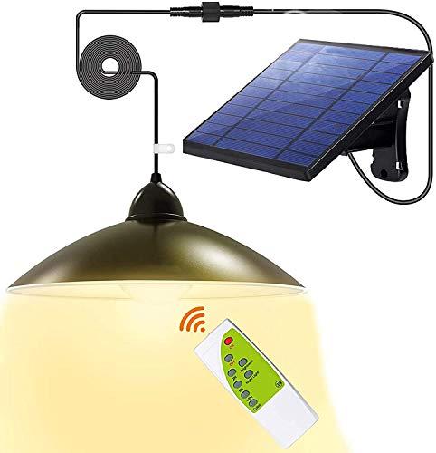 Solarlampen für Außen, Solar Hängelampe mit 2 Modi,3 helle Farben,Fernbedienung,5m Kabel,180 ° Einstellbares Solarpane,IP65 Wasserdichte, für Garten,Camping,Haus Dekoration