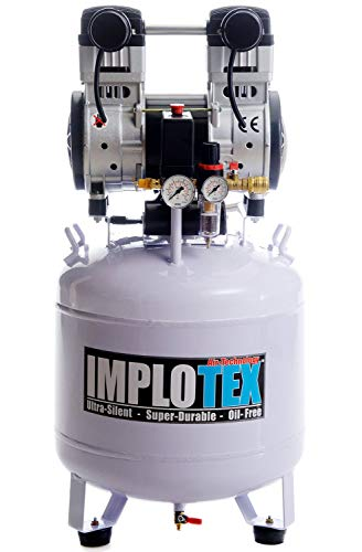 1500W 2PS Silent Flüsterkompressor Druckluftkompressor 60dB leise ölfrei flüster Kompressor Compressor IMPLOTEX