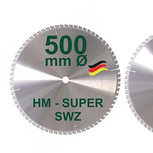 HM Kreissägeblatt 500 x 30 Z= 72 SWZ SUPER nagelfest Sägeblatt 500mm für Bauholz Naturholz Brennholz...