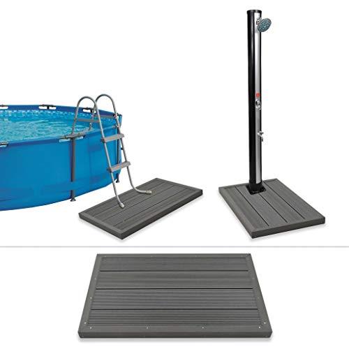 HUANGDANSP Bodenelement für Solardusche Poolleiter WPCHeim Garten Pool Spa Pool- Whirlpool-Zubehör