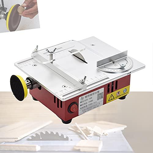 ZHJIUXINGBT Mini Professionelle Tischkreissäge,Multifunktionale DIY Elektrische Säge,7 Geschwindigkeiten,Einstellbares Sägeblatt,Polierfunktion für Holzstab, Kunststoff, Red