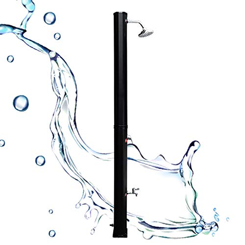 Einfeben 35L Solardusche PVC Gartendusche mit Fußdusche Pooldusche Regulierbare Wassertemperatur bis 60°C Außendusche für Camping und Schwimmen