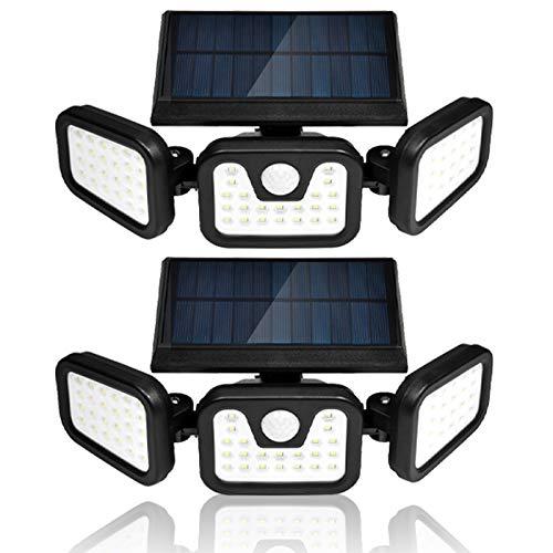 Viugreum Led Solar Strahler Solarlampen FüR AußEn Mit Bewegungsmelder Led Solarleuchten FüR Ip65 Led Strahler AußEn 360° Drehbare 70 Led Solar Au