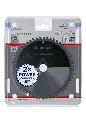 Bosch Professional Kreissägeblatt Standard for Aluminium (Aluminium, 165 x 20 x 1,8 mm, 54 Zähne, Zubehör...