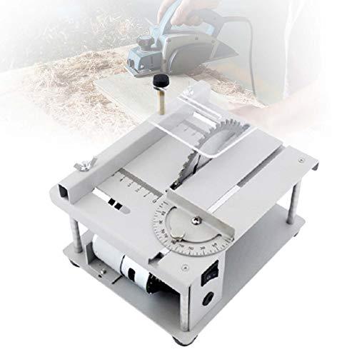 ZPCSAWA Mini-Tischkreissäge, Haushalts Elektrische Tisch Kleine SAH, Kit zum Schneiden, Polieren und Gravieren, 35 mm Schnitttiefe, für handgefertigtes Holzmodellhandwerk