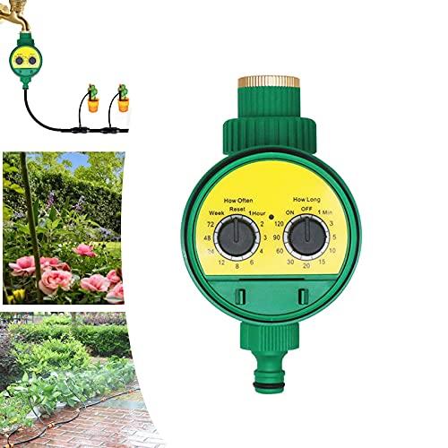 MKNZOME Neue Bewässerungscomputer, Einfache und Schnelle Programmierung Bewässerungsuhr, Garten Timer Bewässerungssystem, automatische bewässerung, ideal zur Blumenbewässerung, Rasenbewässerung etc