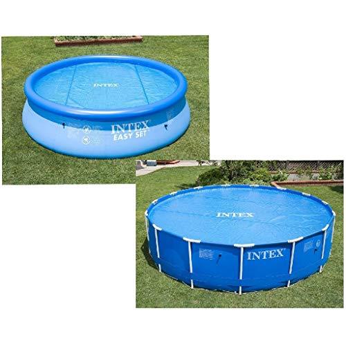 Intex Solarabdeckplane für Easy, Frame Pool Ø 366 cm, Stärke 120 Mikron, 29022,Blau