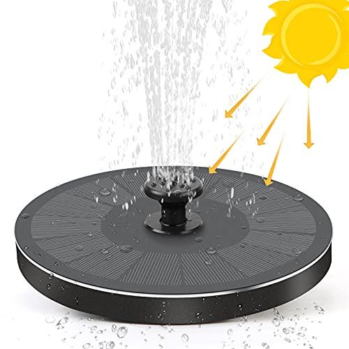 FRECOO Solar Springbrunnen, Solar Teichpumpe Outdoor Schwimmender Fontäne Pumpe mit 2.2W Solar Panel Garten für Gartenteich, Schwimmender Dekoration für Garten, Fisch-Behälter, Kleiner Teich