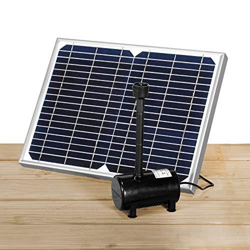 MAUK Solar-Multifunktions-Pumpe für Garten & Teich als Bachlauf Quellstein Wasserfall Fontäne oder Bewässerung