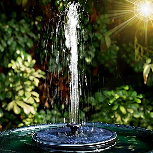 Solar Springbrunnen, 2,2W Solar-Teichpumpe mit 7 Effekten, Solar-Wasserpumpe, Solarbrunnen Solar schwimmende...