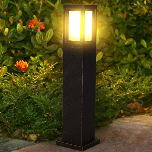 LED Gartenleuchte Wegeleuchte E27,16W Außen Pollerleuchten IP65, 1400LM Außenstandleuchte 60CM,Außenleuchte für Gärten, Innenhöfe, Terrassen usw