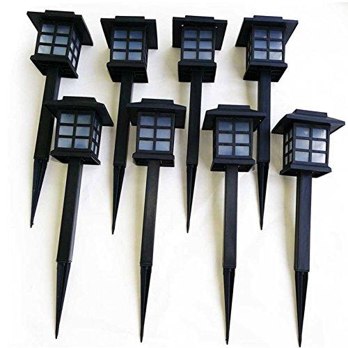 8er Set Solar Gartenleuchten mit Erdspieß Wegeleuchten LED-Gartenlampen
