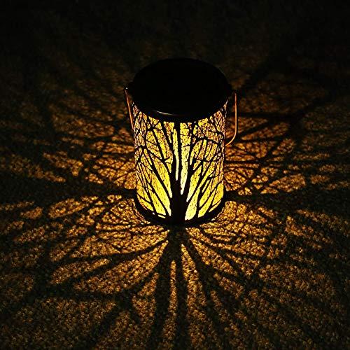 Solarlaterne für außen, Solar Laternen IP65 Wasserdichte für außen Garten, Dekorative Solarlampe Hangend Solarleuchten, Metall LED Solar Laterne für Garten,Terrasse, Hinterhof und Wege