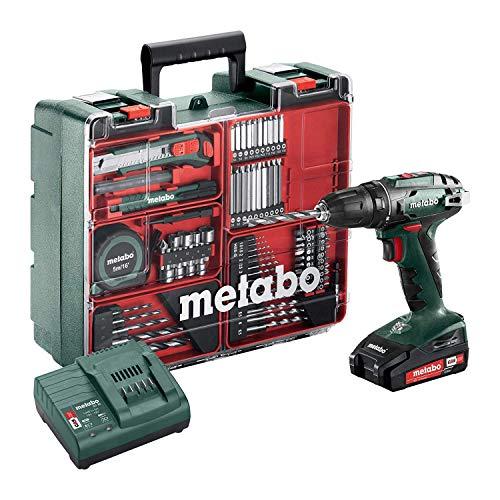 Metabo Akku-Bohrschrauber BS 18 Set (602207880) 18V 2x Li-Ion; Ladegerät SC 30; Kunststoffkoffer; Mobile...