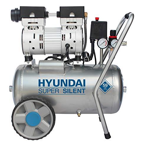 HYUNDAI Silent Kompressor SAC55752 (Druckluftkompressor, ÖLFREI, Flüsterkompressor mit 59 dB(A), 24 l...