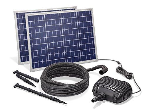 Solar Bachlaufset 100W Solarmodul 5000 l/h Förderleistung 3m Förderhöhe inkl. 5m Schlauch 32mm...