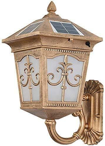 NZDY Halterung Licht Wasserdichte Außenlampe Led Veranda Lichter Vintage Solar Lampen Für Außenwandleuchte, Antike Retro Solar Halterung Lichter Haustür Garten Patio Flur Halterung Beleuchtung