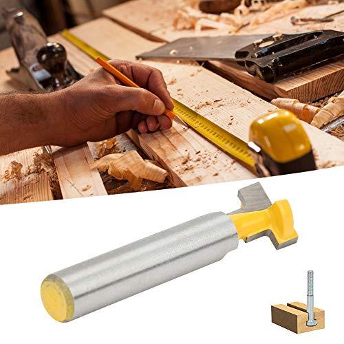 Schlüssellochschneider T-Schlitz Schlüssellochfräser Bit T-Schlitzfräser Fräser Bit T-Schlitz Fräser Bit Holzbearbeitungsfräser mit 45# Kohlenstoffstahlgehäuse für(Single 8 * 1/2)