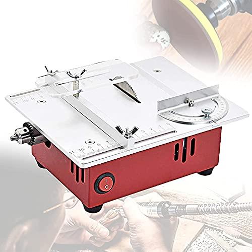 HHORB Home Multifunktions-TischkreissäGe Mit VakuumröHre,Pcb-Tischschneidemaschine,7-Gang-Einstellung Aluminiumlegierungsplatte Mit Polierfunktion StromsäGe,Hohe Konfiguration
