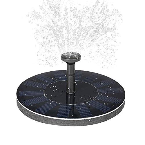Solar Fountain, Solar Springbrunnen Solar Teichpumpe Bewässerungs Solarkraft Brunnen Pool Pumpen energiesparende Bewässerungs Installationssatz für Garden Pond or Fish Container Fountain Bird Bath