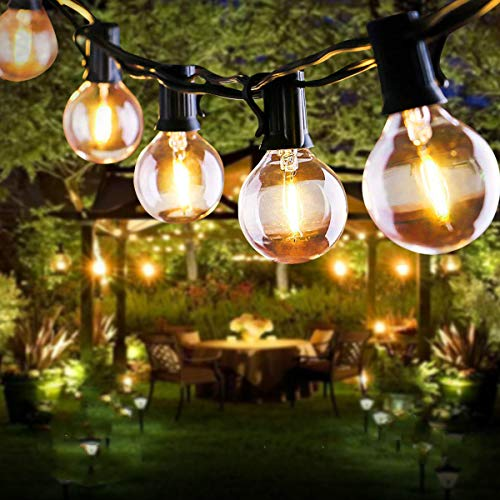 Lichterkette Außen, FOCHEA Lichterkette Glühbirnen 7.6m LED Solar Lichterkette Außen Globe Birnen...