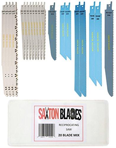 20-Klingen-Säbelsäge von Saxton Blades, für Holz und Metall, perfekt für Bosch, Dewalt, Makita - RPR20MXA
