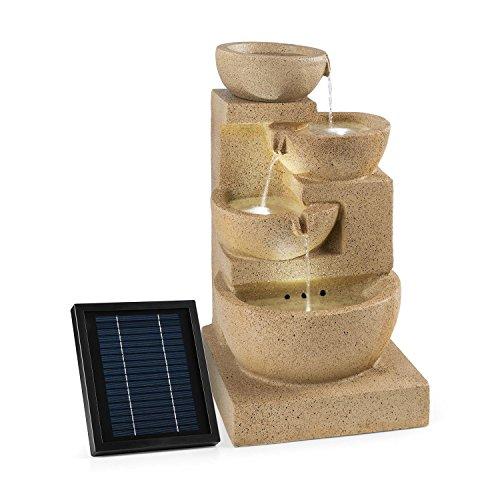 Blumfeldt Korinth Zierbrunnen - Gartenbrunnen, stimmungsvolles Wasserspiel, Solarbetrieb, 3 Watt Solar LED,...