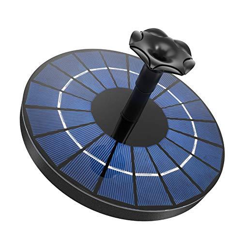 Ankway 3.5W Solarbrunnen für den Garten, solar Springbrunnen mit akku 1500mAh, solar Teichpumpe für Außen Garten Balkon Vogeltränke Wasserlauf Wasserspiele Wasserschale aussen