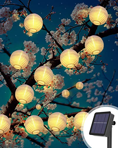 Solar Lichterkette Aussen, Litogo 6M 40 LED Lampion Lichterkette Außen 8 Modus Laterne Lichterkette Outdoor...