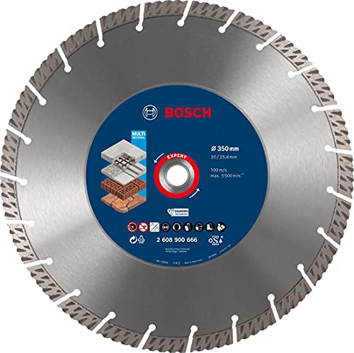 Bosch Professional 1x Expert MultiMaterial Diamanttrennscheiben (für Beton, Ø 350 mm, Zubehör Tischkreissäge, Benzinsäge)