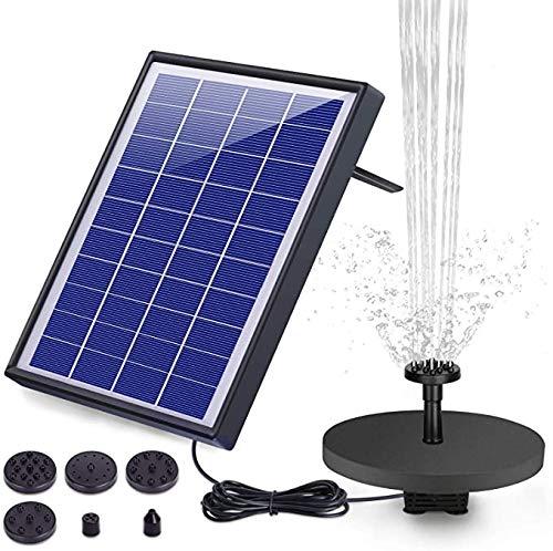 AISITIN 6.5W Solar Springbrunnen Upgraded Solar Teichpumpe mit Solar Panel Eingebaute Batterie Wasserpumpe...
