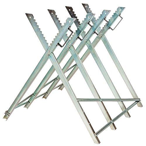 TecTake Holzsägebock für Kettensäge - diverse Modelle - (Silber /'Typ 401165')